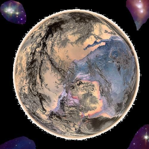 The planet Mammamia gives birth to its noosphere.