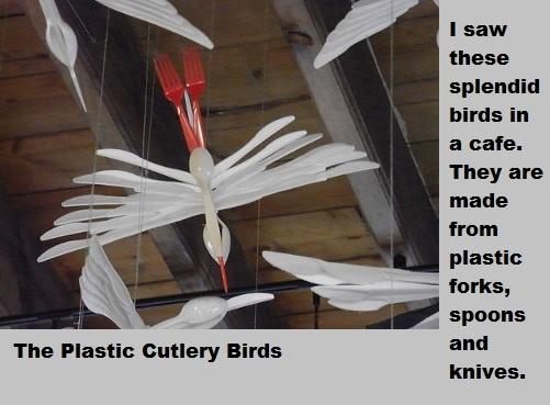 Cutlery birds.