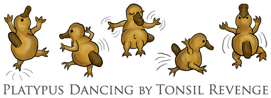 Platypus Dancing Banner as designed by Malabarista