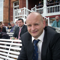 Rich outside the Pavilion at Lord's