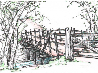 Bridge near the river's source in Moxonwood
