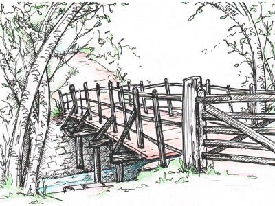 Bridge near the river's source in Moxonwood