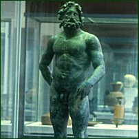 A sculpture of Poseidon at the Royal Scottish Museum, Edinburgh.
