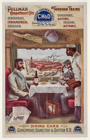 Pullman dining car, 1890s