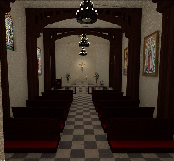 Mission Church Interior by Asteroid Lil