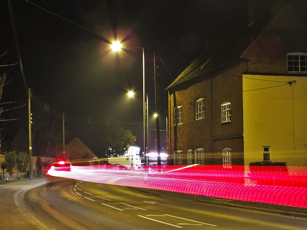 Time exposure at night