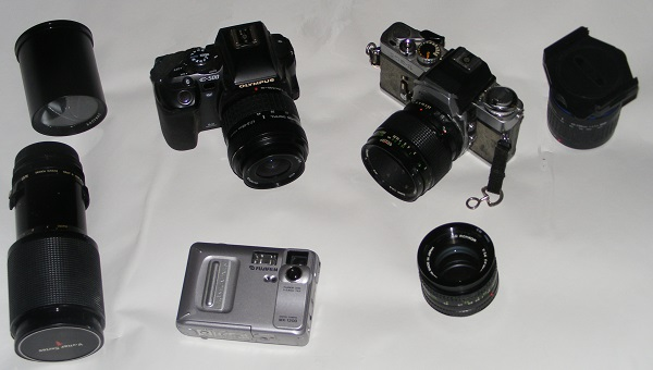 A selection of digital cameras, by bobstafford