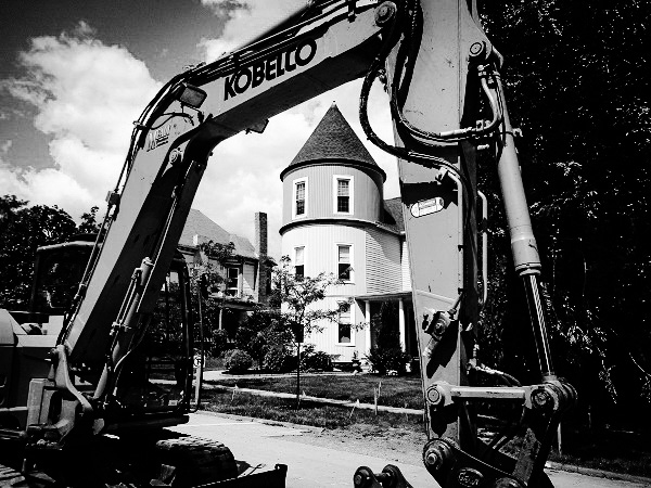 Backhoe and Castle by DG