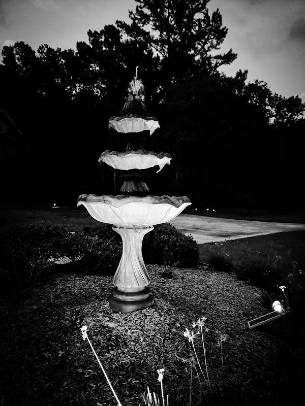 Fountain at Night by Mrs McGillicuddy