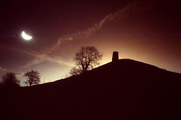 Night Over Glastonbury Tor by bobstafford.