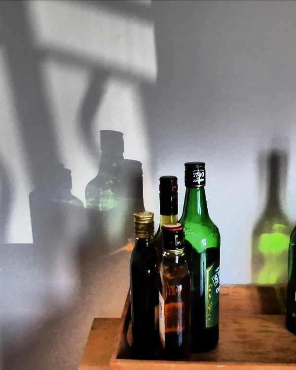 Sunlight on Bottles by Cactuscafe