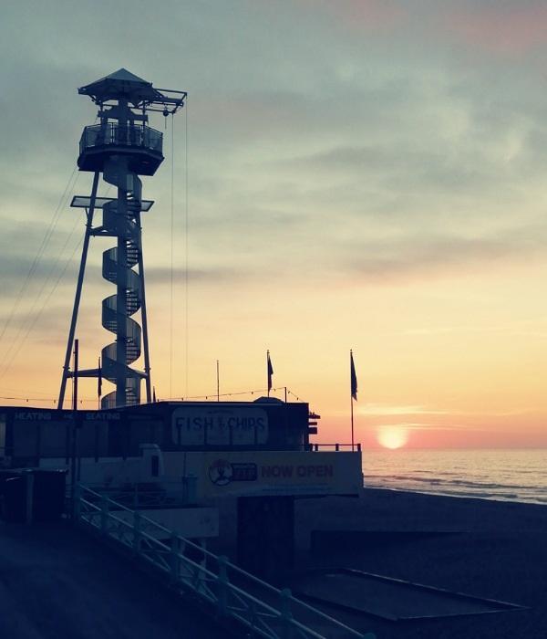 Sunrise, Brighton (Zipline Tower) by Cactuscafe