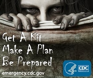 Centers for Disease Control want you to be prepared for the zombie apocalypse, which Our Author is obviously looking forward to.