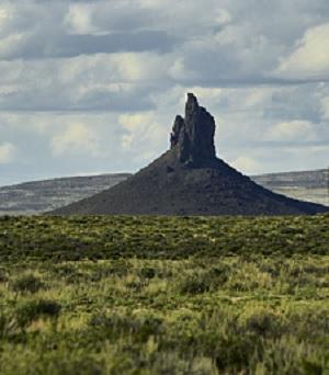 A volcano butte, by Carol M Highsmith.
