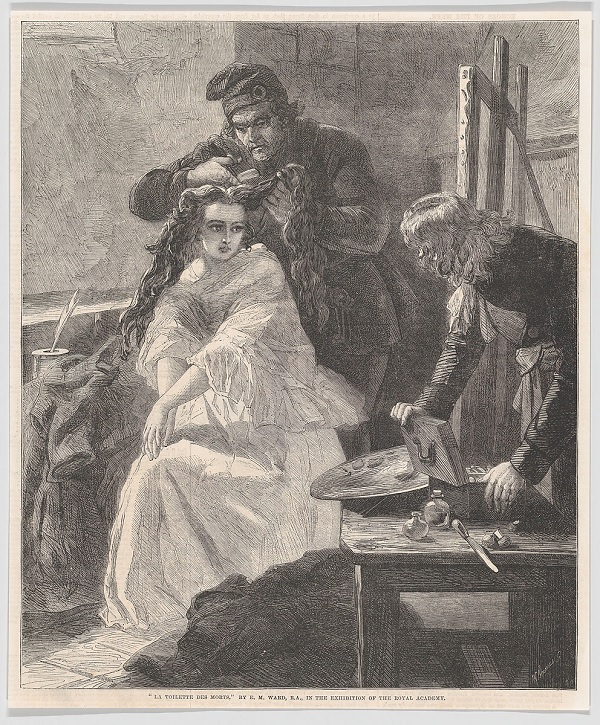 The last toilette of Charlotte Corday.