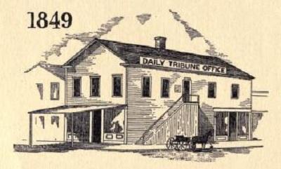 Chicago Tribune Office in 1849.