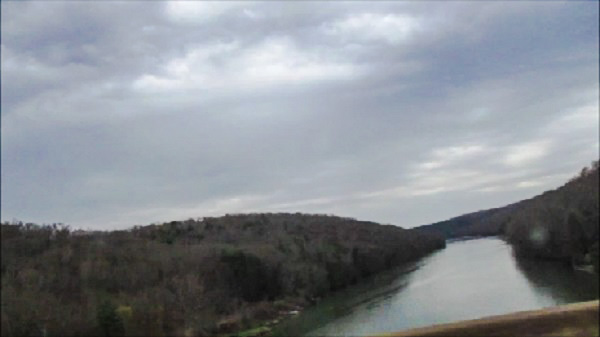 Clarion River from the Car by Elektra Gheorgheni