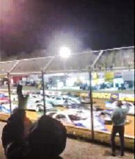 A car race.