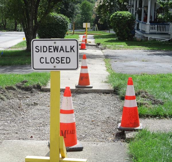 Sidewalk Closed by Dmitri Gheorgheni