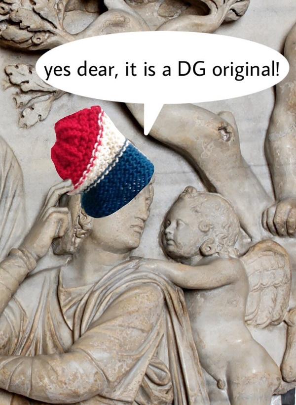 On mythological friezes, DG Originals are the dernier cri in haute couture.'