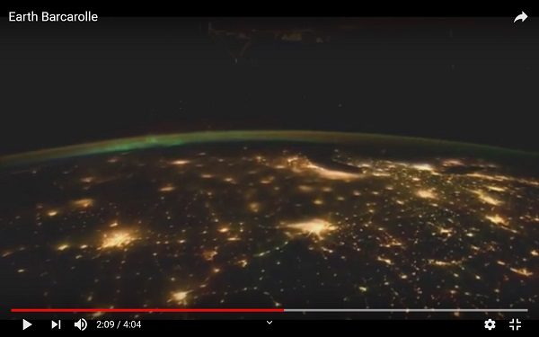 Earth at Night, by NASA.