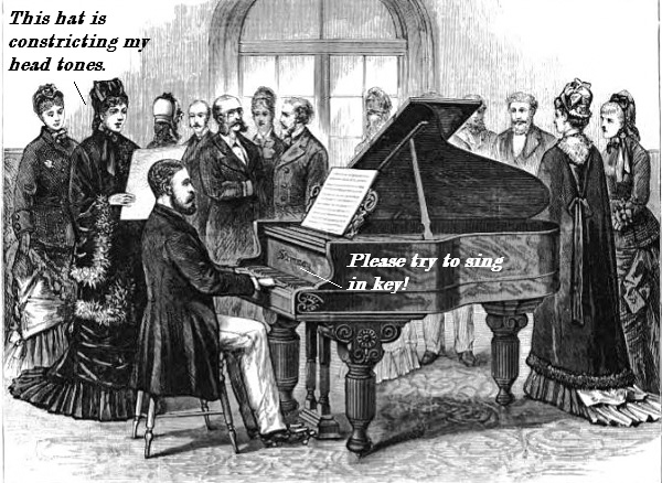 Man playing Steinway in 1879.