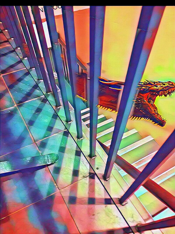 Snake and Staircase by Cactuscafe and FWR