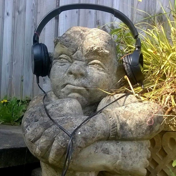 Gnome with Headphones by FWR.