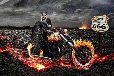 Devil biker.