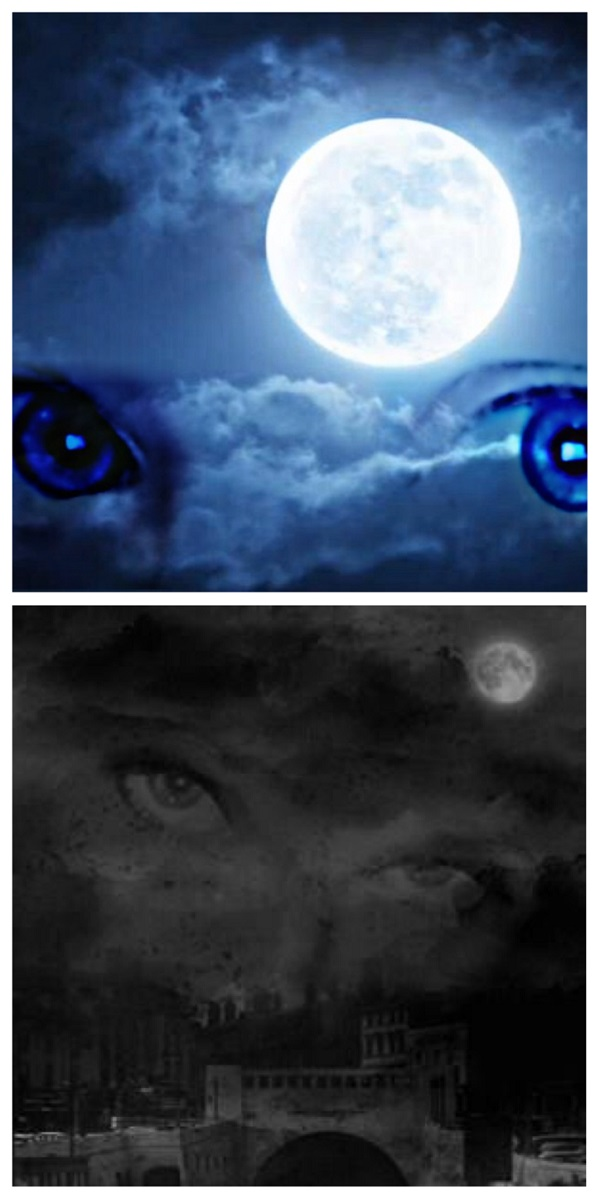 Two spooky pictures made by father and daughter artists.