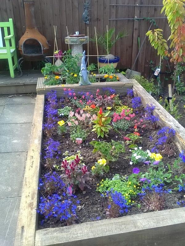 Crosstie Flower Bed by FWR