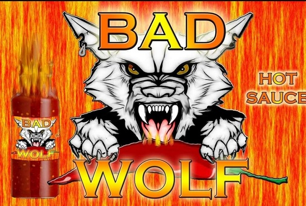 Label for Bad Wolf Chili Sauce