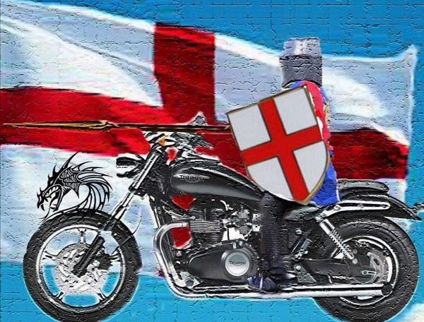 A knight on a motorbike by FWR.