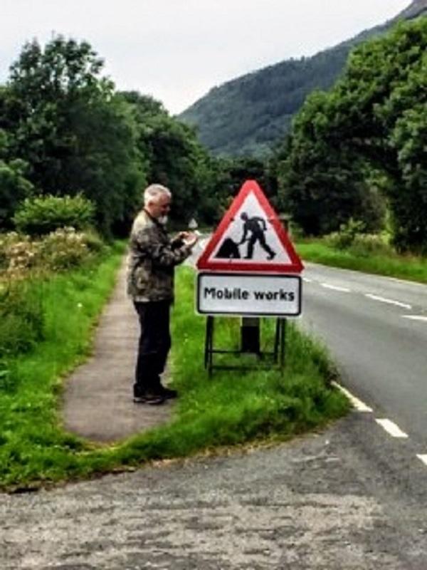 Deepest, darkest Cumbria, waiting for a signal.