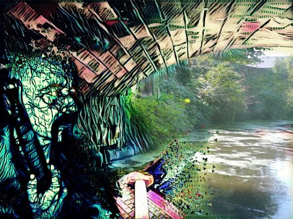 A troll under a bridge by FWR.