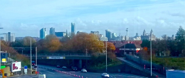View of Liverpool from the Mersey Tunnel.