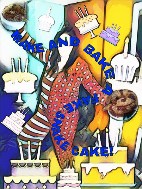A snake cake baker