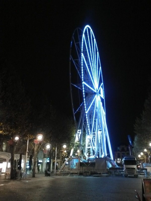 French Ferris wheel by night