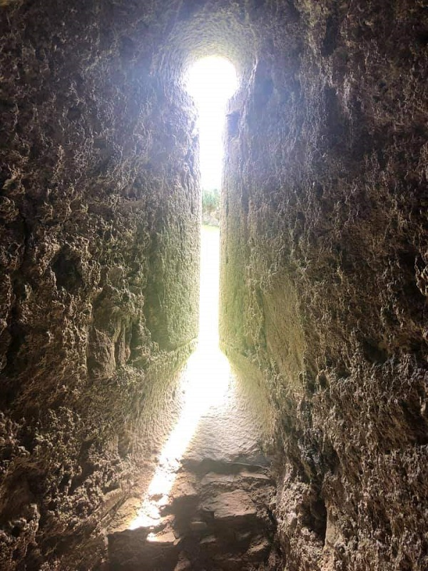 A backlit arrow slit in an old Scottish castle, by Galaxy Babe's daughter.