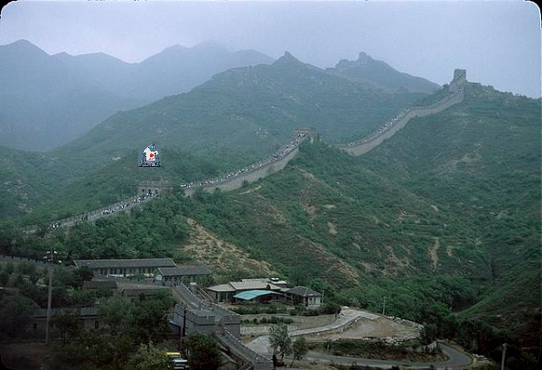 The Great Wall of China menaced by Bluebottle.
