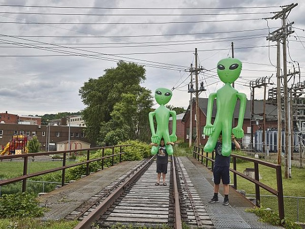 Kids and Aliens at the Station by Carol M Highsmith