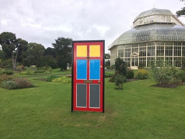 A door sculpture in Dublin.