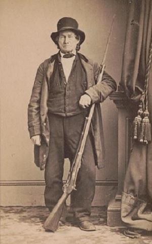 John L Burns dressed for war in 1863
