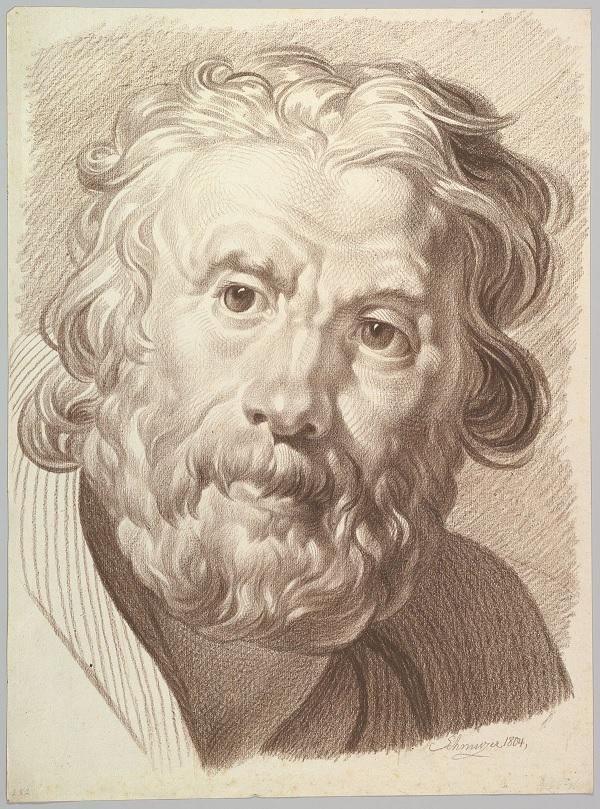 Head of an Old Man by Schmutzer.