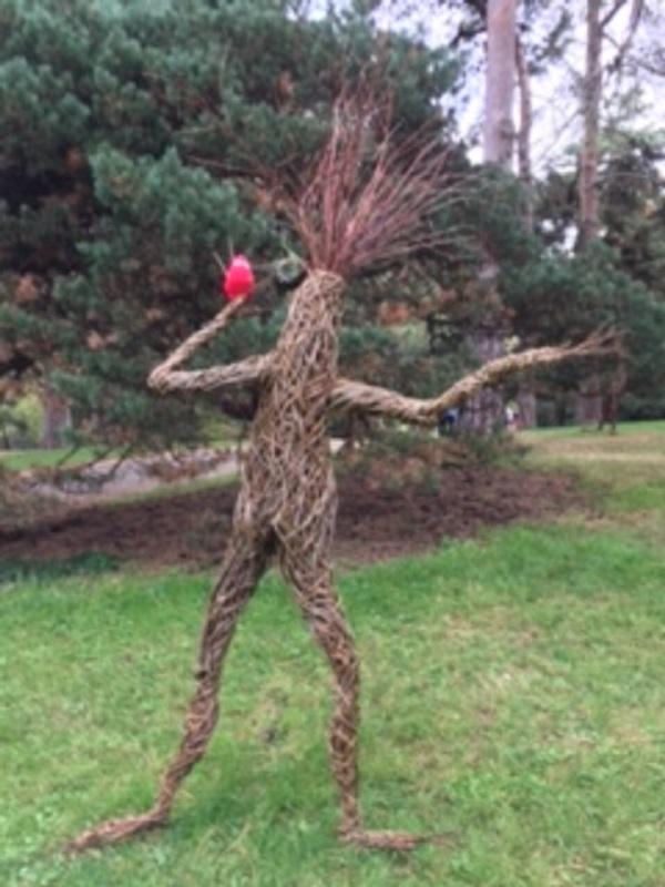 A tree sculpture.