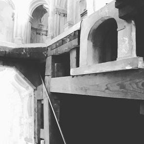 Black and white architecture.