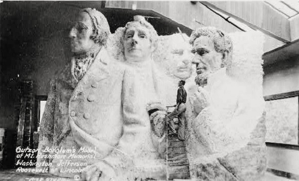 Original design for Mount Rushmore. Not the Mandela Effect