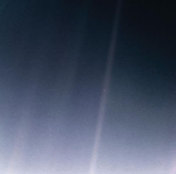 The Pale Blue Dot by NASA