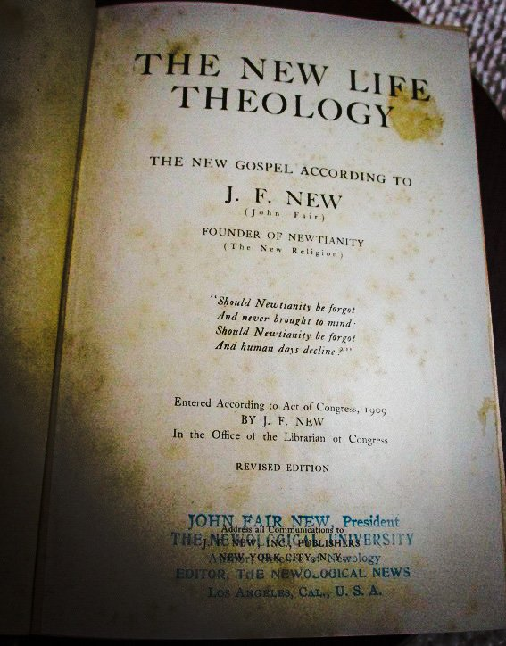 New Life Theology title page