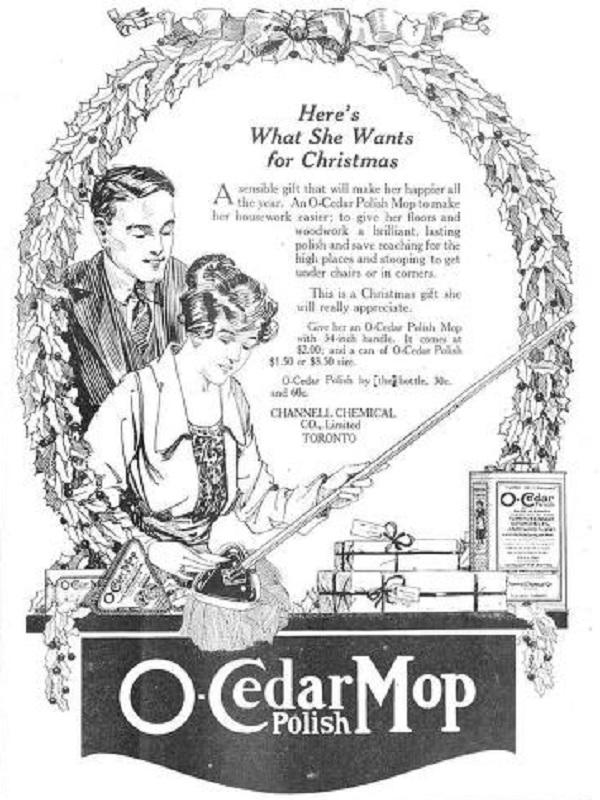 OCedar Mop Advert from 1920
